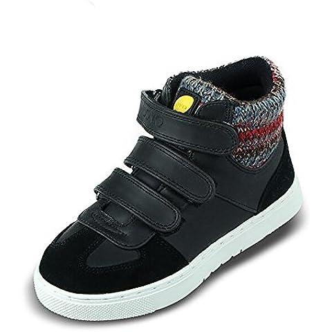 UOVO Ocasional de Alta-top Zapatos con Velcro Para Niños 3 Muchachas de Los Muchachos