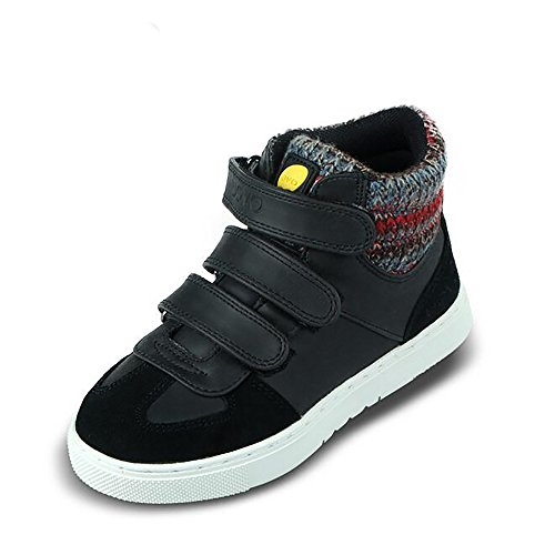 uovo-casual-high-top-shoes-with-3-velcros-for-kids-boys-girls-uk-size-1-eu-33-us-size-2-black-brown