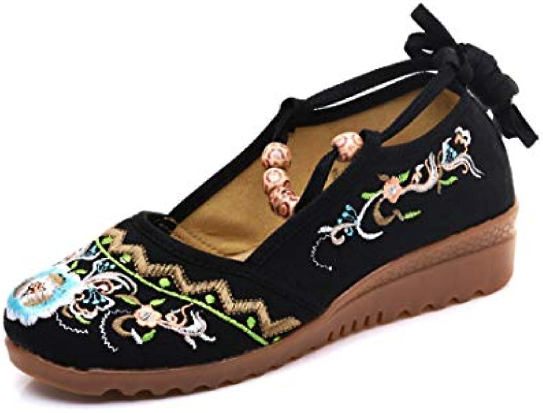 Bordado Zapatos/Alpargatas/ Merceditas/Zapatos Bordados de Tela
