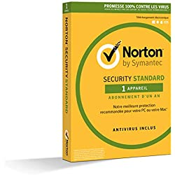 Norton Security Standard 2019 | 1 Appareil | 1 an | PC/Mac/iOS/Android | Téléchargement