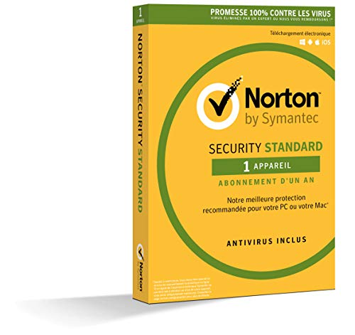 Norton Security Standard 2019 | 1 Appareil | 1 an | PC/Mac/iOS/Android |...