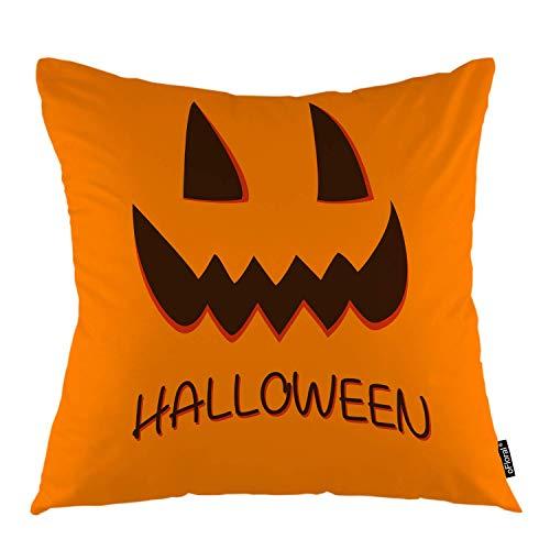 funny cat Halloween Dekokissen Abdeckung Cartoon Lustige Kürbis Gesicht Verrückte Halloween Dekorative Kissenbezug Wohnkultur für Sofa Schlafzimmer Liveroom Kissenbezug , 45X45 cm