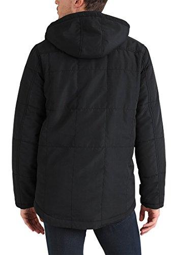 BLEND Polygon Herren Parka lange Winterjacke mit Kapuze aus hochwertiger Materialqualität Black (70155)