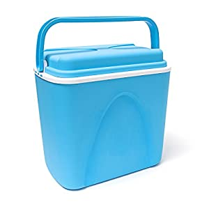 41917H 4SWL. SS300  - Edco 24 Litre Large Blue Food Drink Picnic Beach Camping Insulated Ice Pack Cool Box