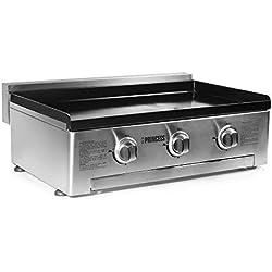 Princess 01.105053.02.001 Plancha gaz 3 brûleurs - Plaque de cuisson en fonte émaillée