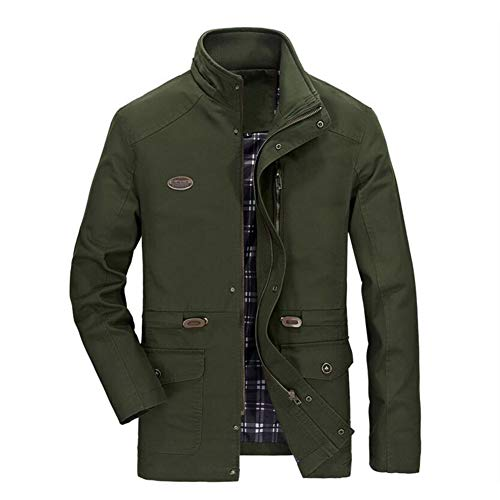 HUAN Mens Casual Jacken Cotton Washed Slim-Fit Mäntel Plus Size Business Formelle Kleidung Jacke Tops (Farbe : 7, Größe : XXXXXL)