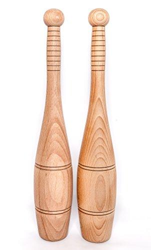 Stableford\'s indischen Holz Clubs je 1,1kg (2Lb 6oz)–Military Medium Größe, Training/Swinging, Clubbells,
