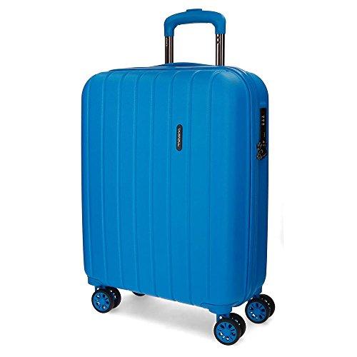 Movom Wood Equipaje de Mano, 55 cm, 43 Litros, Azul