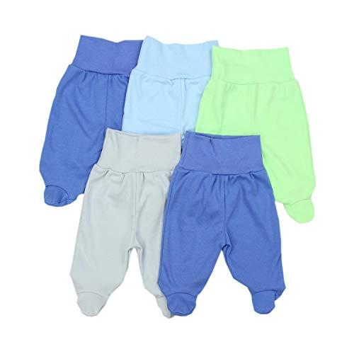TupTam Unisex Baby Strampelhose mit Fuß 5er Pack, Farbe: Junge 2, Größe: 56