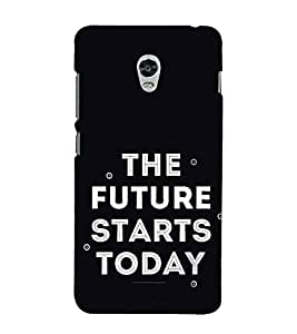 FUSON The Future Starts Today 3D Hard Polycarbonate Designer Back Case Cover for Lenovo Vibe P1 :: Lenovo Vibe P1 Turbo :: Lenovo Vibe P1 Pro