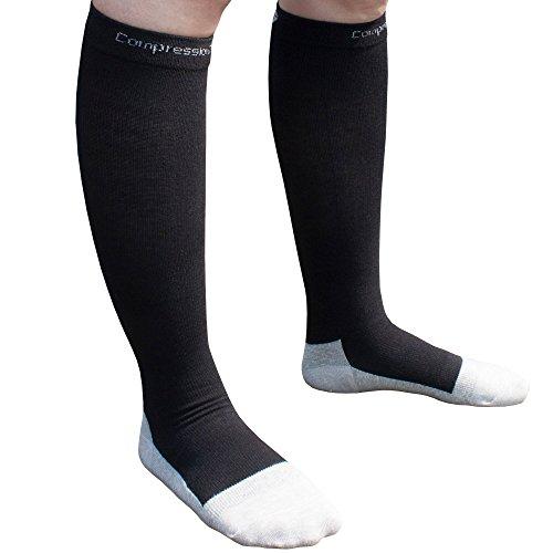 Compression-Socks-1-Pair-20-30mmHg-Graduated-Best-For-Running-Athletic-Sports-Crossfit-Flight-Travel-Men-Women-Suits-Nurses-Maternity-Pregnancy-Shin-Splints-CompressionZ