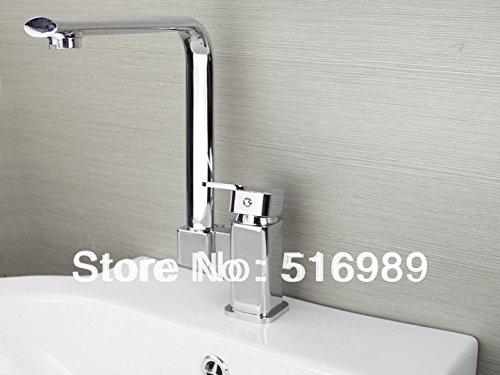 lität Wasserhahn Messing Single Griff klappbar Küchenarmatur schwenkbar Spüle Heiß & Kalt Wasser für Badezimmer Küche Home Gaden (begriffsklärung) ()