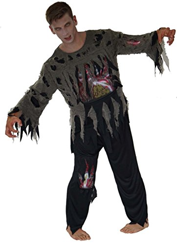 Maylynn - 14107 Kostüm Schwarzer Zombie, 2-teilig, Größe L