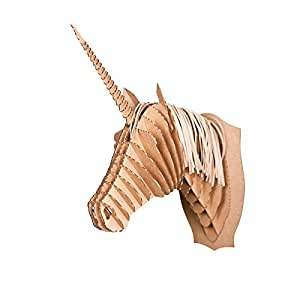 Testa di Unicorno | marrone, medie dimensioni, corna ramificate | trofei di caccia