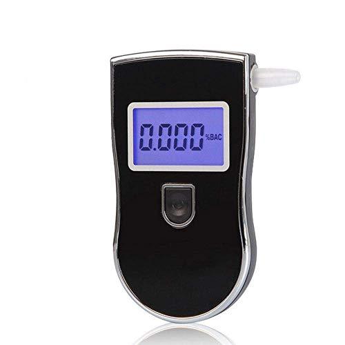 BAIYI Alkoholdetektor Tragbare Handluft-Alkoholtester Alkoholisch Betrunkenes Fahren Tester Sicheres Fahren (5 Mundstückfilter)
