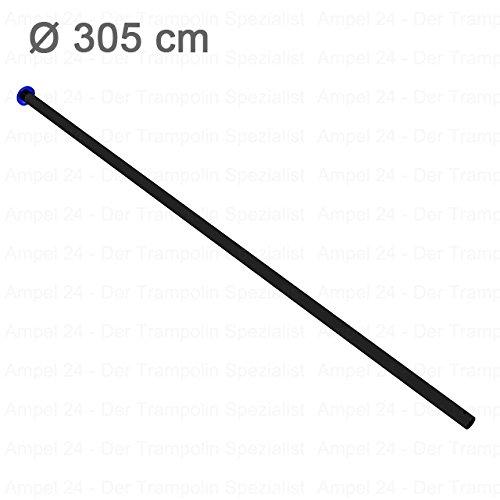 Ampel 24, Partie supérieure pour piquet de filet de sécurité pour trampolines | longueur: env 125cm | Diamètre: env 2,8cm | convient pour trampoline de 3,05m | noir