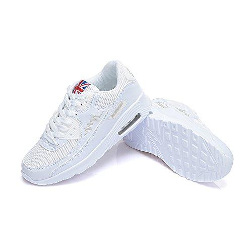 Peggie House, Damen Sportschuhe Laufschuhe Schnür Sneaker Sport Fitness Turnschuhe Traillaufschuhe Weiß