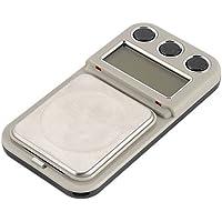 Cikuso Basculas de pesaje de Joya de Oro de Bolsillo Digital de Doble Precision 100/