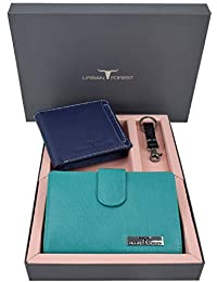 Urban Forest Skylar Leather Wallets Combo Gift Box for Couple