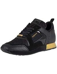 Cruyff Hombre Zapatillas de Deporte de Ante de Lusso, Negro