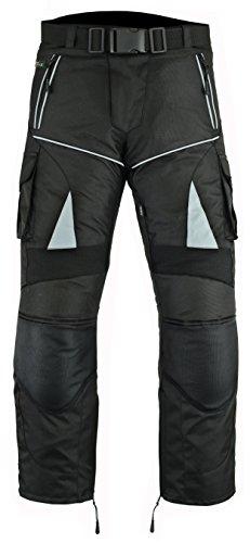Pantalones impermeables de motero Ridex CMT1para hombre (resistentes al viento y con protección), CMT1, negro, 36 W/30 L