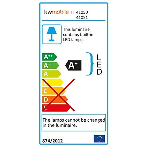 kwmobile cinema light box formato A5 - insegna luminosa con 126 lettere simboli numeri in nero - luci LED decorative - lampada cinematic lightbox - 5