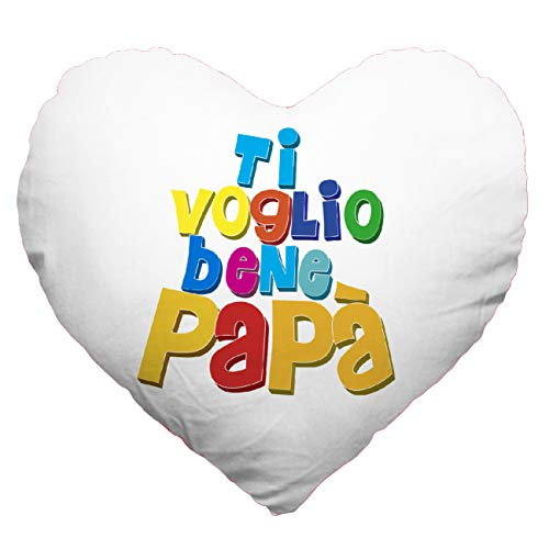 My custom style cuscino cuore full print microfibra 30#festa del papà tvb1#