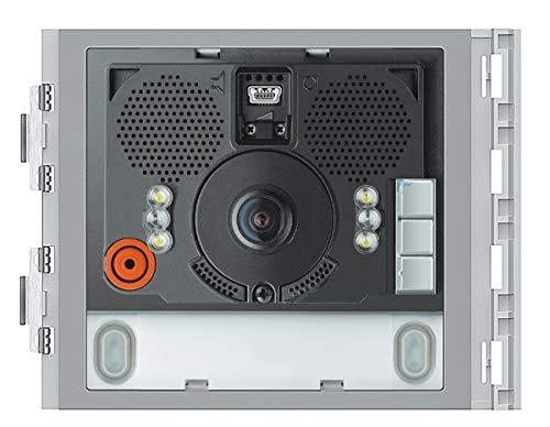 Sfera Weitwinkel-Audio-/Video-Modul mit 2 Ruftasten, Lautsprechermodul, LED beleuchtung, Erfassungsbereich (135°hor. /95°vrt), Antibeschlag-Heizung, 2-Draht-Technik -