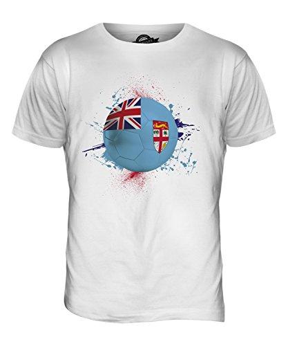 CandyMix Fidschi Fußball Herren T Shirt Weiß
