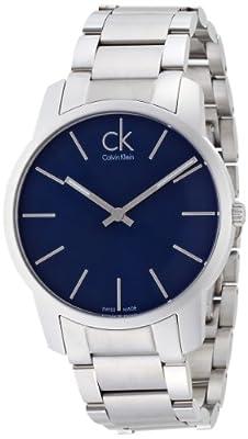 Calvin Klein K2G2114N - Reloj para hombres, correa de acero inoxidable color plateado de Calvin Klein