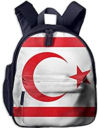 Flag of The Turkish Republic of Northern Cyprus Kid and Toddler Student Backpack School Bag Super