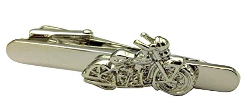 Motorrad Harley Vintage Biker Krawatte Clip Silber Schwarz Hochzeit Bar Schließe (Krawatte Clip Vintage)