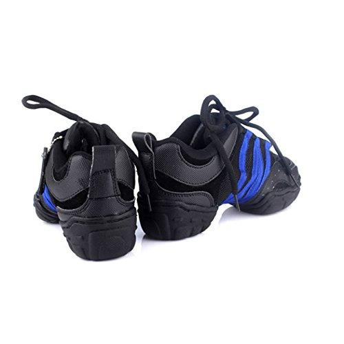ZQ@QXModerno fitness Moda scarpe comode dimensioni lady mesh scarpe da ballo blue