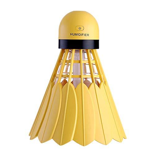 Badminton Luftbefeuchter, Mini Usb Nachtlicht Desktop Büro Auto Silent Purification Hydration, Charm Yellow