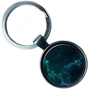 NASA Photograph Starlight Star Sternenlicht Foto Silver Keychain Silber Schlüsselanhänger