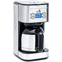 Senya - Cafetera programable isotérmica de acero inoxidable, 1,2 litros, 800 W