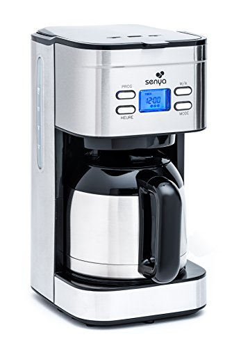 Senya Kaffeemaschine programmierbar Thermoskanne Hot Coffee Edelstahl Liter, 800 (Thermoskanne Hot)