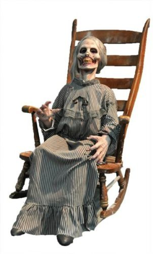 MOTHER ANIMATED HAUNTED HOUSE HALLOWEEN PROP Grandma Zombie Scary Yard Dcor - DU2619 by (Halloween Prop Zombie)