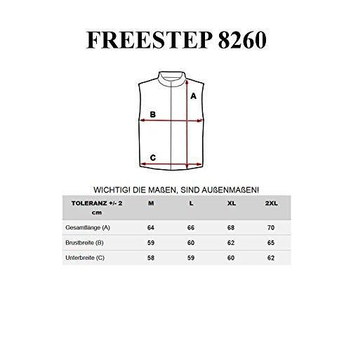 BOLF Herren Weste Jacke Übergangs Steppweste FREESTEP 5503 Schwarz_8260