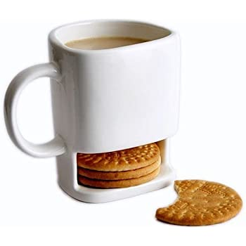250ml Dunk Mug - Tazza di Ceramica con Tasca Porta Biscotti