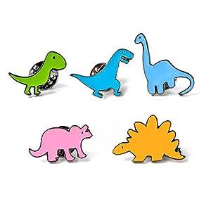 BIGBOBA Brosche mit Cartoon-Tier-Spielzeug, Dinosaurier-Serie, Brosche für Kleidung, Schal, Schal, Clip, Dekoration für Geburtstag, Festival, Geschenk