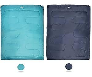 Trespass Catnap-3 Season 2 Person Double Envelope Green Turquoise Comfortable Sleeping Bag, Jade, Large