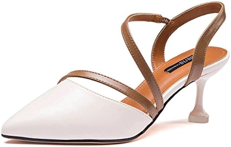DONGLU Schuhe mit Hohen Absätzen mit Elastischen Riemen Sommerschuhe