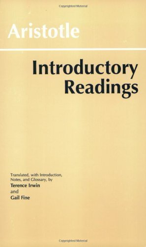 Aristotle: Introductory Readings by Aristotle published by Hackett Pub Co (1996) Paperback