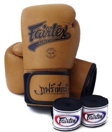 fairtex-muay-thai-boxing-gloves-bgv1-color-classic-brown-white-blue-size-10-16-oz-training-sparring-