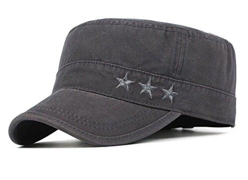 FOOKREN Cap im Military-Stil,Schnell-trocknend Baseball Sonnen Sport Cap,Mützen für Draussen Sun kappenBase Caps, Mütze NO-22 (Grau)