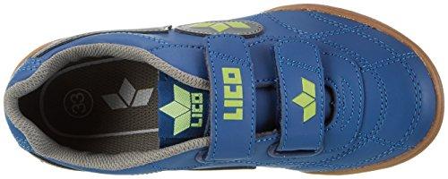 Lico Bernie V, Chaussures de Fitness Mixte Enfant Bleu (Marine/grau/lemon)