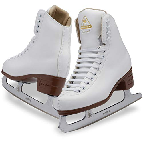 (Youth C 13.5) - Jackson Ultima Excel Series JS1290 / JS1291 / JS1294 White, Women's and Girls Figure Ice Skates