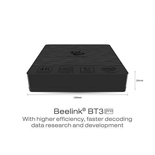 Beelink BT3 pro Mini PC Windows 10 mit 4GB DDR3 + 32GB ROM Intel Atom x5-Z8350 Processor HD Graphik 400 Small Desktop PC VGA HDMI Ausgabe 1000Mbps/LAN 2.4+5.8GHz Wifi BT4.0 S1 Prozessor Dual