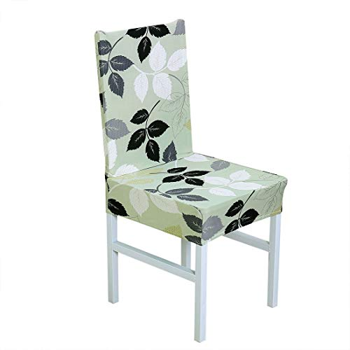 ZCHXD Stretch Spandex Short Dining Room Chair Covers Printed Pattern Slipcovers Armless Parson Chair Seat Covers #4 - 4 Parson Stühle